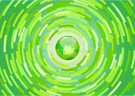 conserve: Illustration vectorielle - Green Planet arri�re-plan. La pens�e environnementale