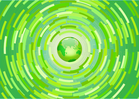 biofuel: Vector illustration - Green planet background. Environmental thinking