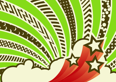 Vector illustration - funky looking composition.  pattern background.   Illustration