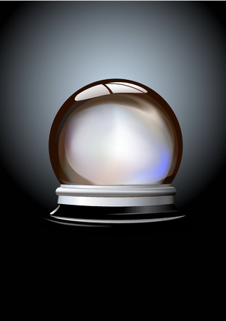 Vector illustration of Crystal ball (fortune tellers ball) on gradient background