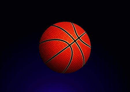 Vector illustration of detailed basketball ball on gradient background illustration