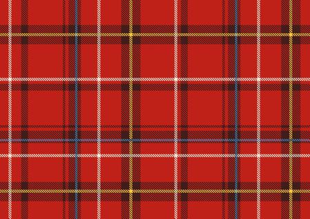Vector illustration of   The Scottish plaid. Textured   tartan background. Seamless pattern.  Stock Vector - 3492737