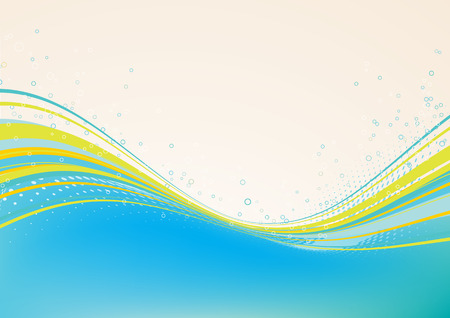 Abstract lines background: composition of curved lines and bleb - great for backgrounds, or layering over other images Vector