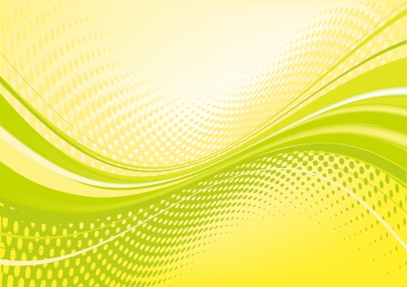 Yellow abstract techno background: composition of dots and curved lines - great for backgrounds, or layering over other images photo
