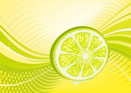 Yellow  abstract fruit background: composition of dots and curved lines - great for backgrounds, or layering over other images photo