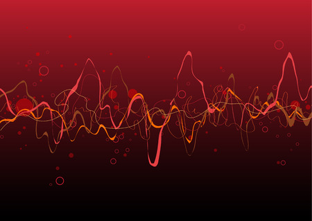 Red Abstract lines background: composition of curved lines - great for backgrounds, or layering over other images Vector