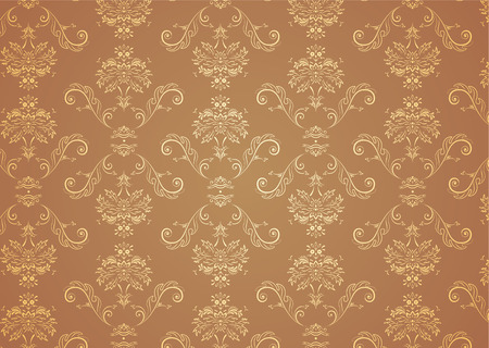 Vector illustration of elegant Victorian retro motif wallpaper Pattern Stock Vector - 3697736