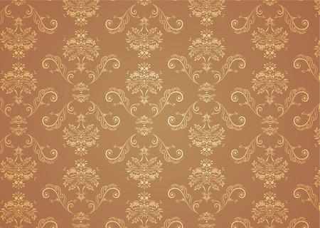 Vector illustration of elegant Victorian retro motif wallpaper Pattern Stock Vector - 3697736