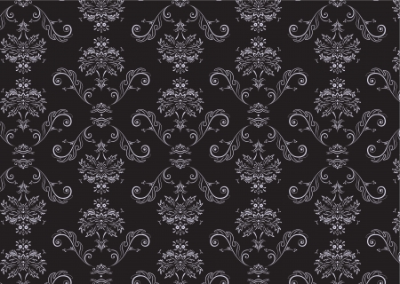 Vector illustration of elegant Victorian retro motif wallpaper Pattern Illustration