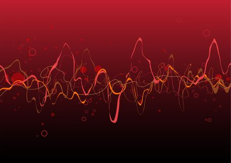 Red Abstract lines background: composition of curved lines - great for backgrounds, or layering over other images photo