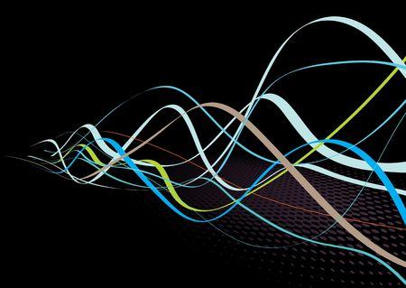 Abstract lines background: composition of colored curved lines - great for backgrounds, or layering over other images photo