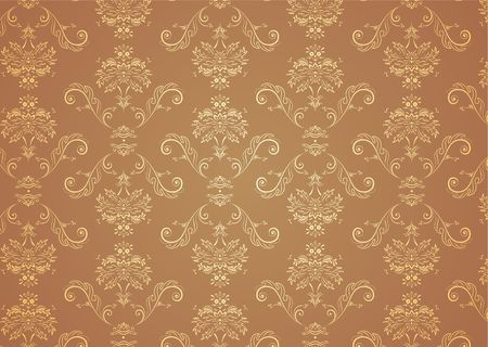 Vector illustration of elegant Victorian retro motif wallpaper Pattern Stock Illustration - 3699239