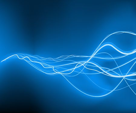 A vector illustrated   futuristic background resembling blue motion blurred neon light curves photo