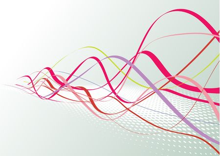 vector waves: Abstract lines background: composition of colored curved lines - great for backgrounds, or layering over other images