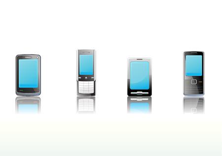 Vector illustration � set of elegant black communication device icons Vector