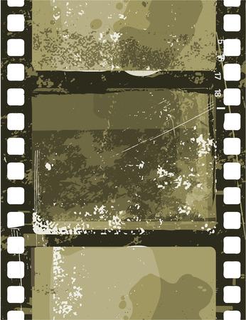 Vector illustration of  Grunge Film seamless pattern