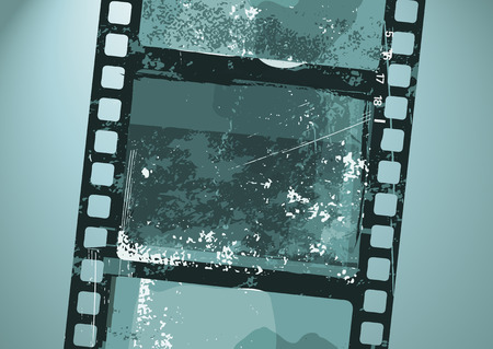 Vector illustration of  Grunge Film pattern Vector