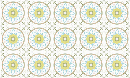 Vector illustration of  Original  seamless  floral pattern Vector