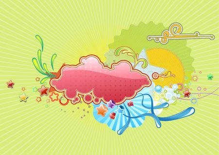 Vector illustration of Retro colorful  Candy background illustration