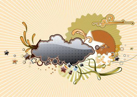 Vector illustration of Retro  Candy background illustration
