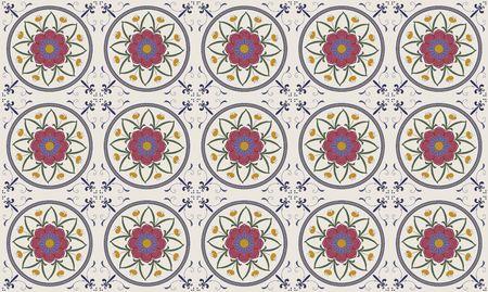 Vector illustration of  Original  seamless  floral pattern illustration