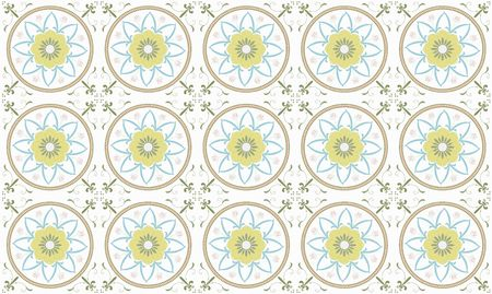 Vector illustration of  Original  seamless  floral pattern illustration