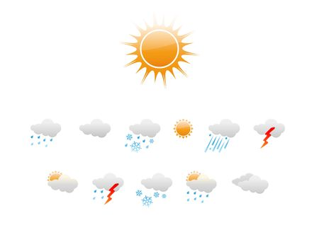 Vector illustration � set of elegant Weather Icons for all types of weather Stock Illustration - 4031513