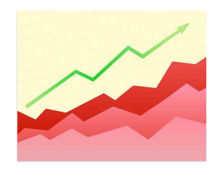 Vector illustration - Shiny  graph of success trend Vector
