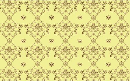 Vector illustration of  elegant Victorian retro motif wallpaper Pattern Stock Vector - 4907301