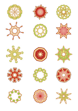 Vector illustration set of abstract floral and organic elements Vector