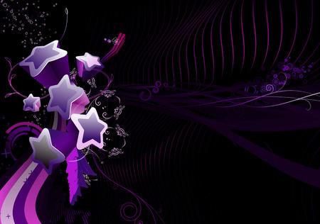 vectors abstract: Ilustraci�n vectorial de resumen de antecedentes de los elementos florales y colores divertidos Parte estrellas