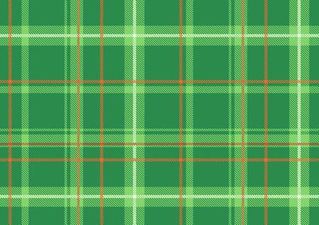 Vector illustration of The Scottish plaid. Textured tartan background.  Seamless pattern.  Stock Vector - 4907088