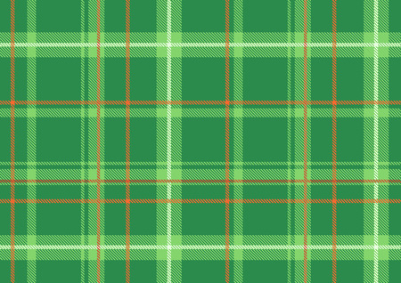 scot: Vector illustration of The Scottish plaid. Textured tartan background.  Seamless pattern.