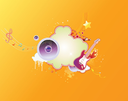 Vector illustration of music abstract background Stock Vector - 4907200