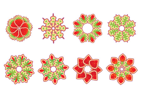 Vector illustration set of abstract floral and ornamental elements Stock Vector - 4907167