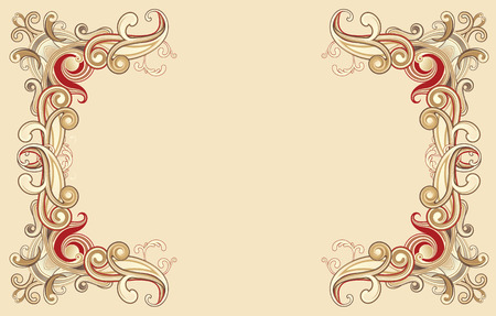 Vector illustration of style floral frame
