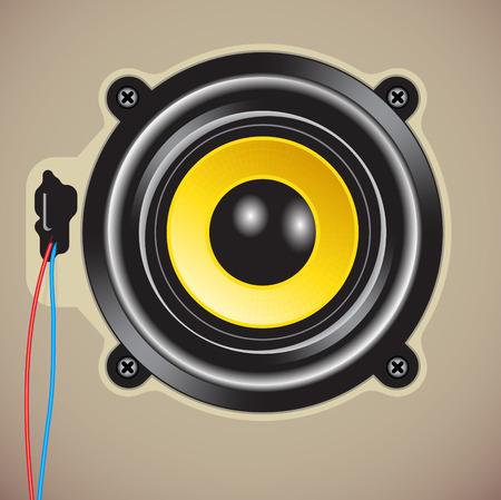 Vector illustration of detailed loud speaker Vector