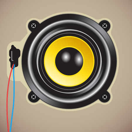 Vector illustration of detailed loud speaker Vector