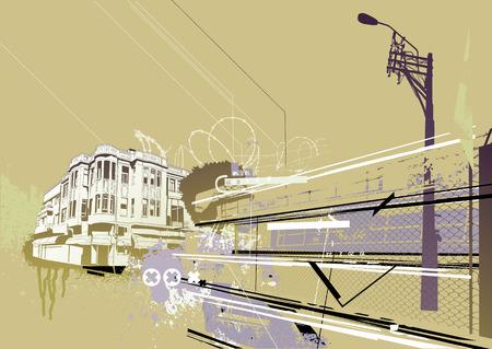 Vector illustration of style urban background Illustration