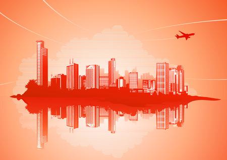Big City - Grunge styled urban background. Stock Vector - 4993083