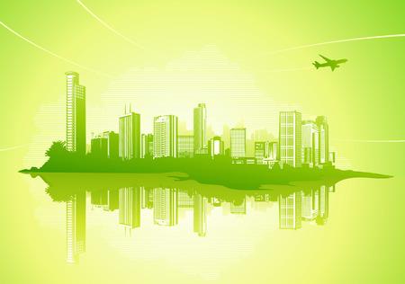 Big City - Grunge styled urban background. Stock Vector - 5001831