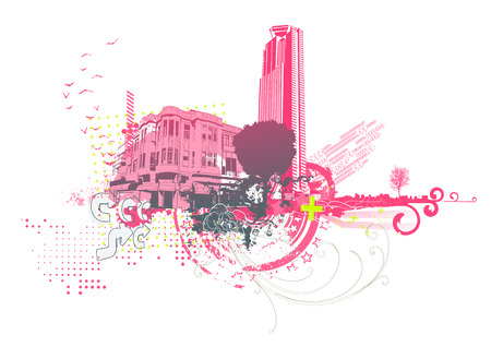 Vector illustration of style urban background Stock Vector - 5001839