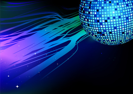 Vector illustration of shiny abstract party design Vector