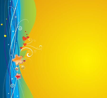 Vector illustration of funky abstract background.  Great for greeting cards  Stock Vector - 5001779