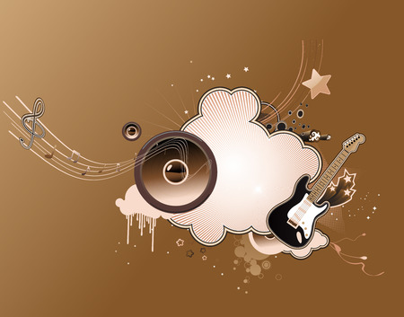 Vector illustration of music abstract frame