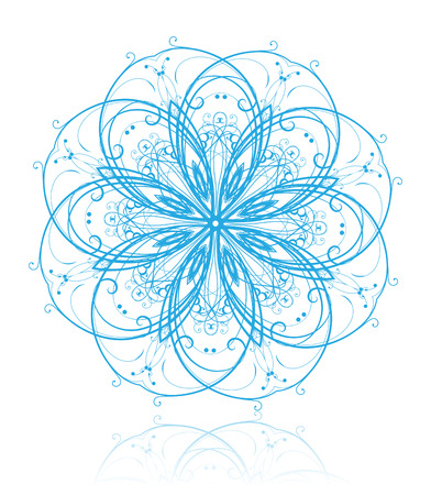 lightweight ornaments: Vector illustration of abstract floral and ornamental element