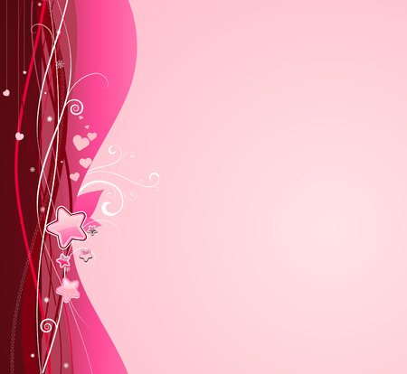 Vector illustration of funky pink abstract background.  Great for greeting cards.  Vector