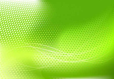 Vector illustration of green abstract techno background made of dots and curved lines. Great for backgrounds or layering over other images Vector