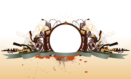 Vector illustration of style  urban grunge frame Vector