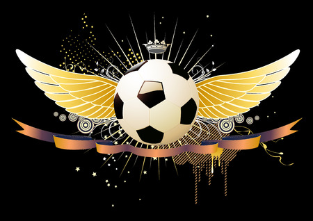 Vector illustration of style soccer football winged emblems Stock Vector - 5024253